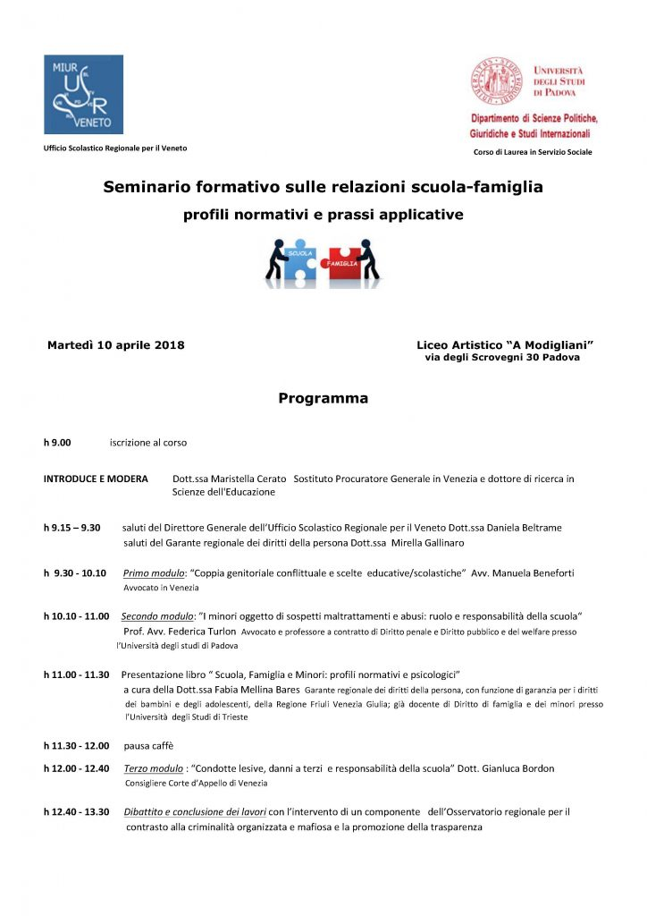 Locandina Convegno 10 aprile 2018